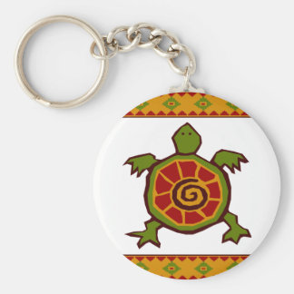 traditional border swirly turtle.ai key ring