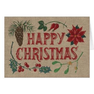 Traditional Botanical Christmas Card