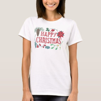 Traditional Botanical Christmas (white) T-Shirt