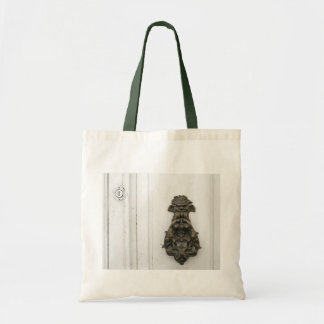 Traditional brass knocker tote bag