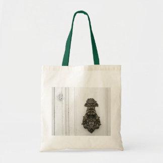 Traditional brass knocker tote bag