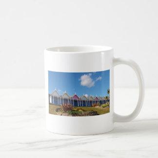 Traditional British Beach Huts Basic White Mug