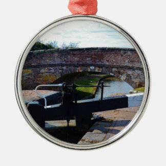 Traditional British Canal Lock Christmas Ornament