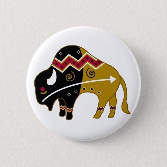 Traditional Buffalo 6 Cm Round Badge