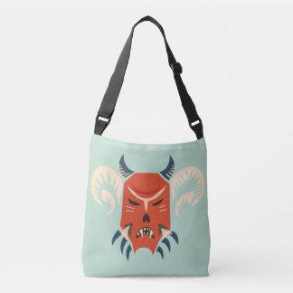 Traditional Bulgarian Kuker Mask - Evil Demon Crossbody Bag