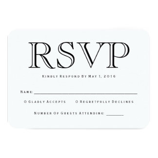 Traditional Calson RSVP Card 9 Cm X 13 Cm Invitation Card