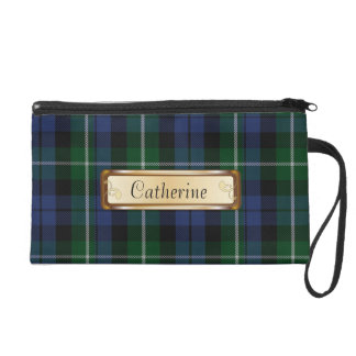 Traditional Campbell Clan Tartan Plaid Wristlet Purses