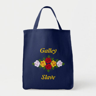 Traditional canal rose pattern tote bag