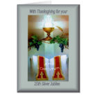 Traditional Catholic 25th Anniversary  ordination Card