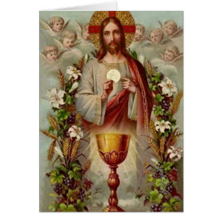 Traditional Catholic Mass Offering Sacred Heart Card