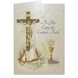 Traditional Catholic Profession of Faith RCIA Card