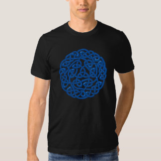 Traditional Celtic Knot (Blue glow) Tshirts