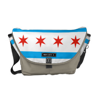 Traditional Chicago flag Commuter Bags