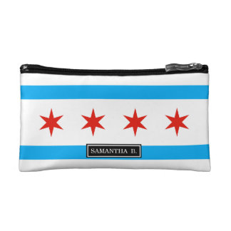 Traditional Chicago flag Cosmetic Bag