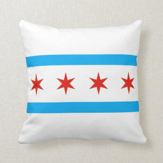 Traditional Chicago flag Cushion