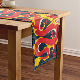 Traditional Chinese Dragon. Short Table Runner