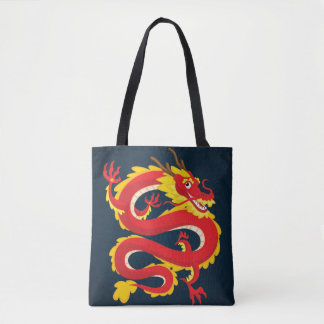 Traditional Chinese Dragon. Tote Bag