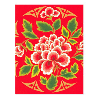 Traditional Chinese Embroidery Design Postcard