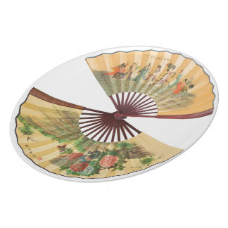 Traditional Chinese fans Dinner Plates