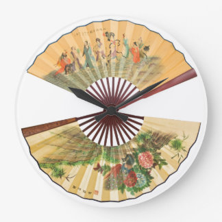 Traditional Chinese fans Wallclocks