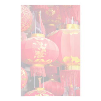 Traditional Chinese lantern hanging Custom Stationery