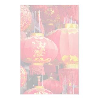 Traditional Chinese lantern hanging Custom Stationery