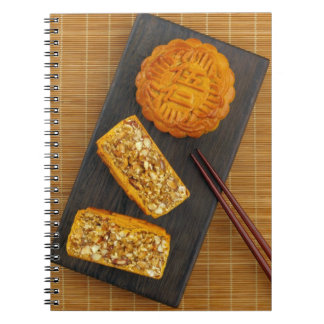 Traditional Chinese mixed nut moon cake Notebooks