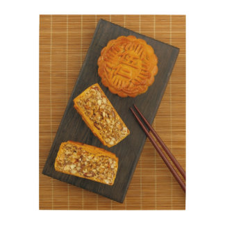 Traditional Chinese mixed nut moon cake Wood Wall Decor