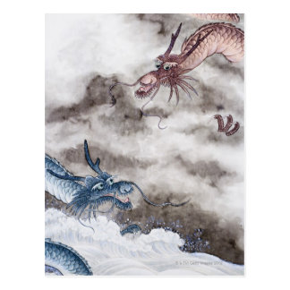 Traditional Chinese Painting, Year Of The Dragon 2 Postcard