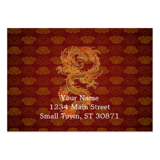 Traditional Chinese Red Dragon Pack Of Chubby Business Cards