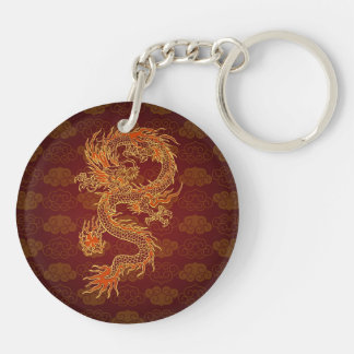 Traditional Chinese Red Dragon Key Ring
