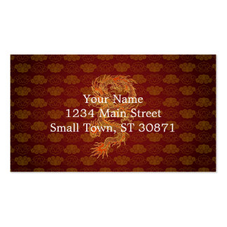 Traditional Chinese Red Dragon Pack Of Standard Business Cards