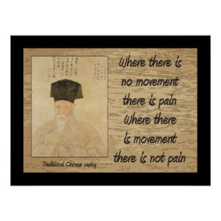 Traditional Chinese saying, Pain Poster
