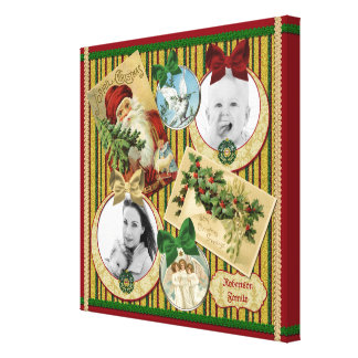 Traditional Christmas Classic Symbol Picture Frame Canvas Print