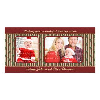 Traditional Christmas Design Custom Photo Card