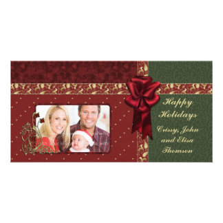 Traditional Christmas Design Photo Card Template