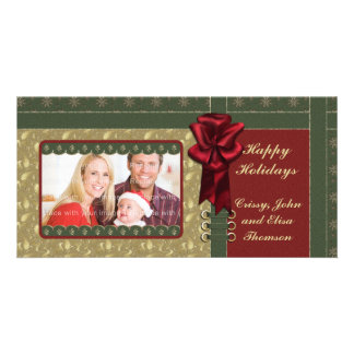 Traditional Christmas Design Photo Greeting Card