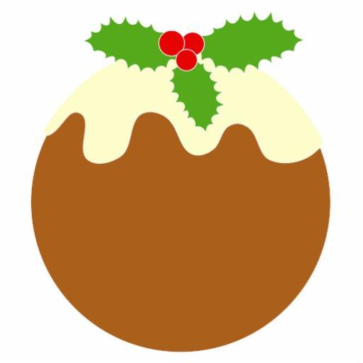 Traditional Christmas Pudding. On White. Photo Cutouts