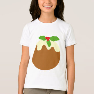 Traditional Christmas Pudding. On White. T-Shirt