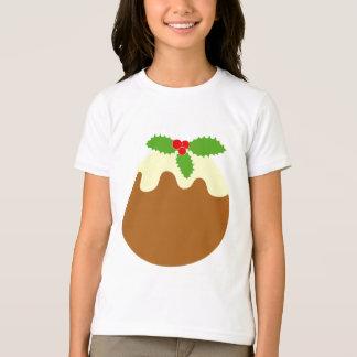 Traditional Christmas Pudding. On White. Tee Shirts