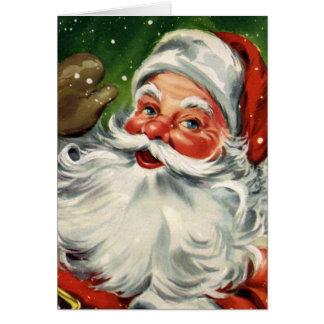 """Traditional Christmas Santa"" Greeting Card"