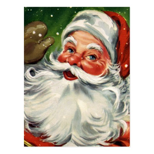 """Traditional Christmas Santa"" Postcard"