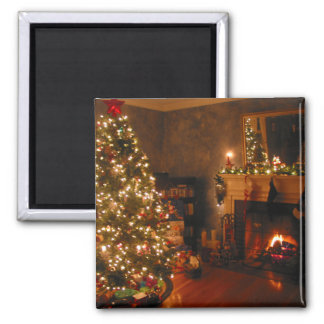 Traditional Christmas Square Magnet