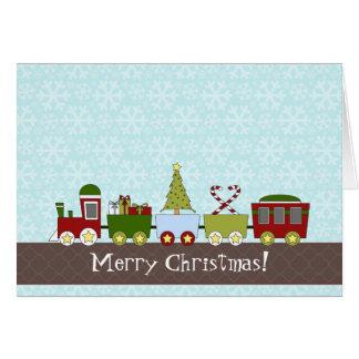 Traditional Christmas Train Folded Christmas Card