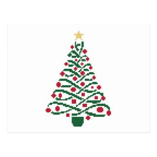 Traditional Christmas tree Postcard