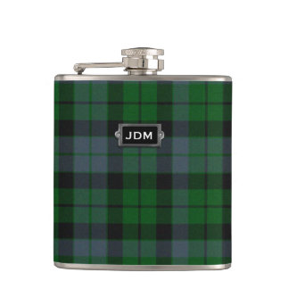Traditional Clan MacKay Tartan Plaid Flask
