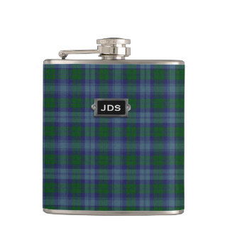 Traditional Clan Sutherland Tartan Plaid Flask