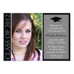 Traditional Class Of 2012 Graduation (Black) 13 Cm X 18 Cm Invitation Card