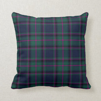 Traditional Cooper Clan Tartan Plaid Cushion