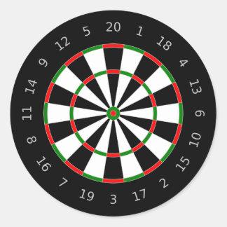 Traditional Dartboard Target Design Round Sticker